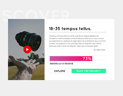 Crowdfunding Campaign #DailyUI