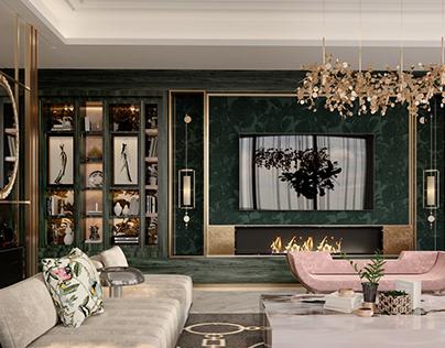 luxury living hall
