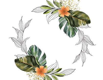 free download tropical leaves collection