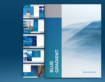 Blue Brochure Layout