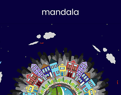 A mandala inspired from a city