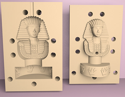 King Tut mold for 3D print