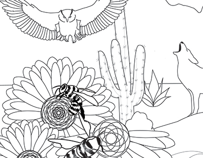 Everything Arizona coloring book entry