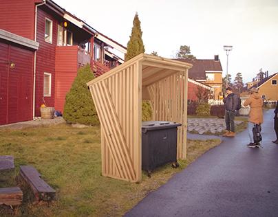Garbage bin shelter for Remontér