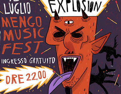 Bud Spencer Blues Explosion - Concert Tribute Poster