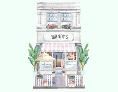 Mandy's Salads new menu cover