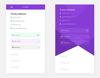 Profile Page Mobile App