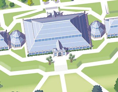 Visitor maps for Kew Gardens and Wakehurst