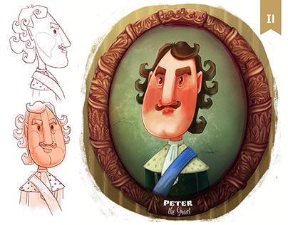 Russian monarchs: cartoon version