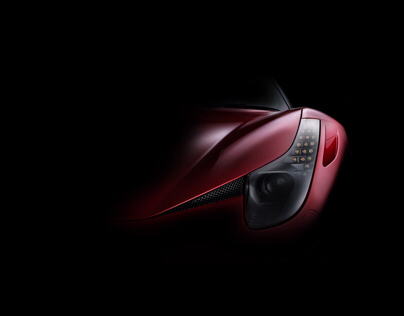 Ferrari 458 Spider fine art photography (FDL technique)
