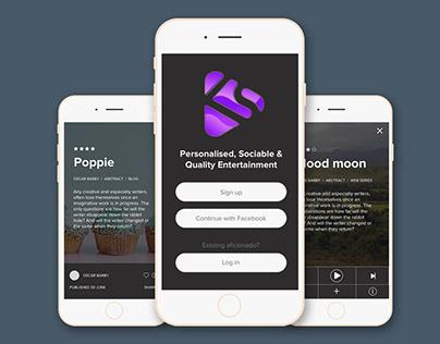 Kudos App UX Process / UI Design and Prototyping
