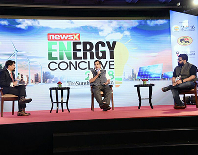 Kartikeya Sharma at the NewsX Energy Conclave 2018