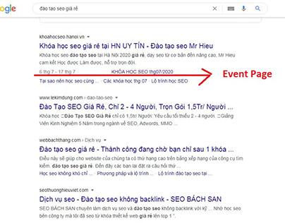 Hướng dẫn tạo Event Page - hoàn toàn thủ công - không p