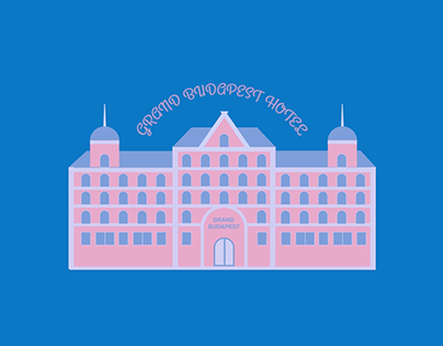 The Grand Budapest Hotel - Motion Graphic - flat design