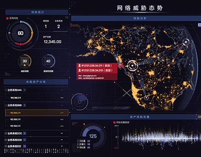 Data visualization large screen