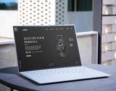 Watch Landing Page Design