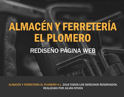 Rediseño Web - Almacén y Ferretería El Plomero