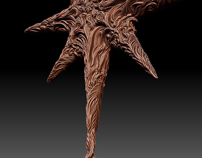 Christmas Star in the style of Wind and Frost, 3D