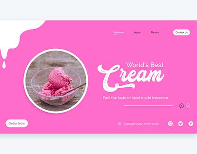 Creamy Chocolate Web UI Design - Photoshop