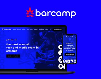 BarCamp Yerevan 2021: Event branding & website