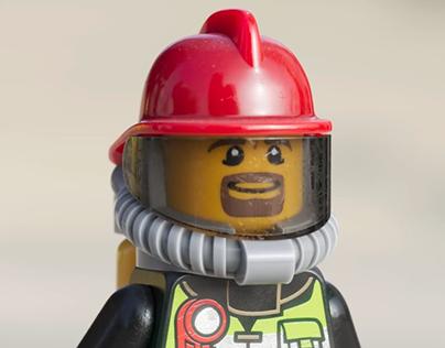 Lego Firefighter - LookDev study