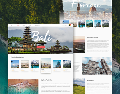 Traveling Website UI Design