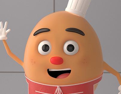 Cartoonish Food Mascot