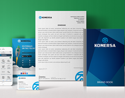 Komersa branding, web and app design.