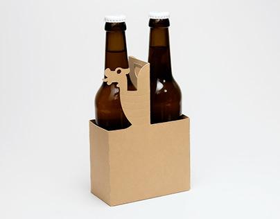 Viking bottle carrier - Misc. cardboard project