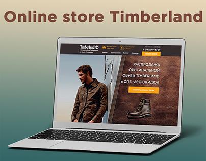 Интернет магазин в формате лендинга обуви Timberland