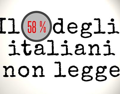 Il 58% degli italiani non legge...
