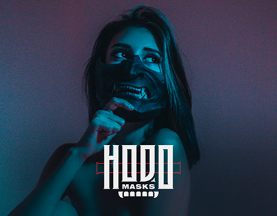 Hodo masks - Web site and logotype