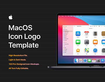 MacOS Big Sur Icon Template Mockup - PSD