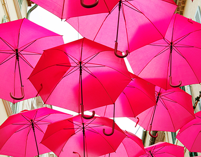 """La vie en Rose"" umbrella sky in Sanary-sur-mer"