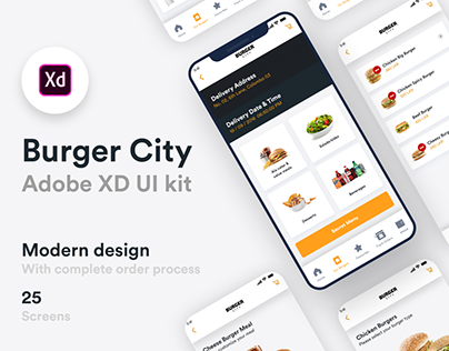 Burger City - Adobe XD UI kit