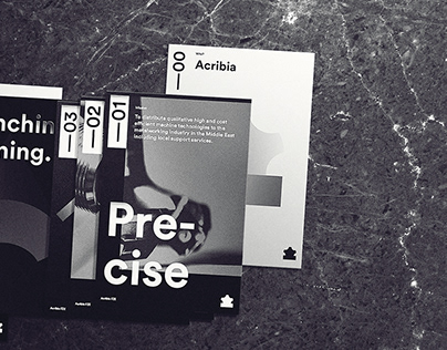 Acribia — branding