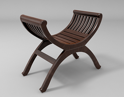 3d model of wooden stool for garden. Elegant & creative