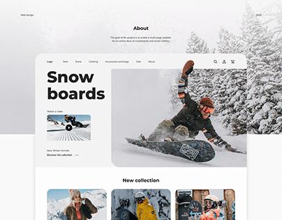 Snowboard online shop
