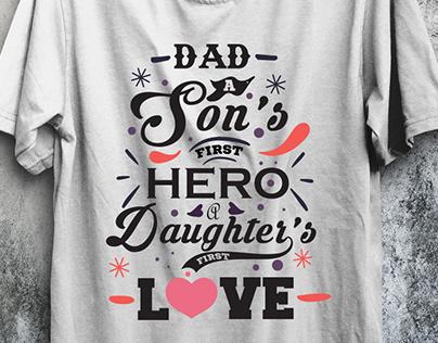 Dad Typography T Shirt Design