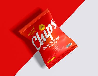 Free Snack Package Mockup