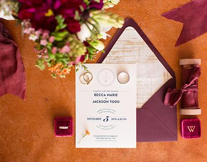 Becca + Jackson wedding invites