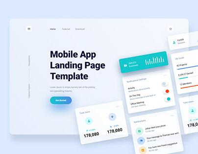 Best Mobile App Landing Page Design