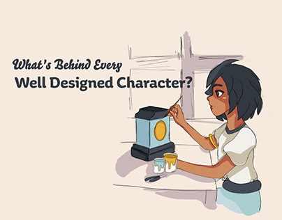 College Project | Character Design Infographic