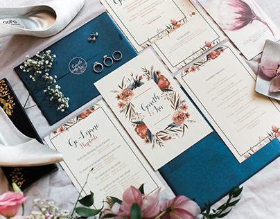 Wedding Invitation Design: Go-Lejano Nuptials