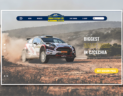 Czech Rally - Rally Event Website Design #DailyUI