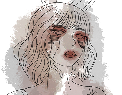 bunny girl portrait 🐰