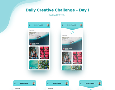 Daily Creative Challenge - Day 1 Pull to refresh