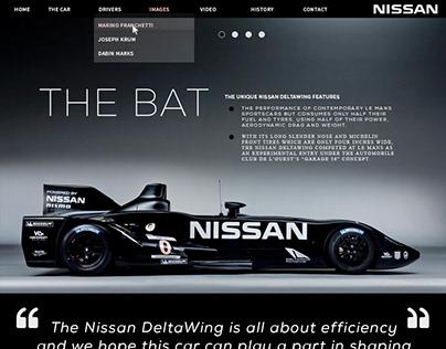 Nissan Delta-Wing - Website Redesign