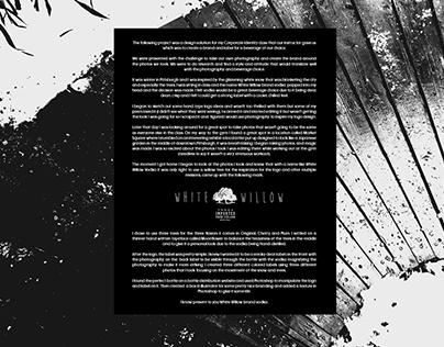 White Willow Vodka Branding