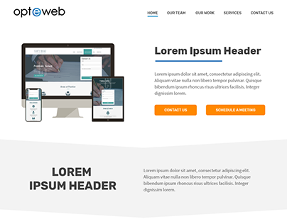Opteweb Website Redesign